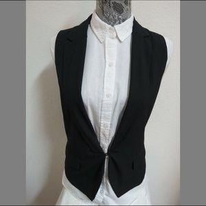 Sz S Navy Blue Pinstriped GAP Womens 86W Suit Vest